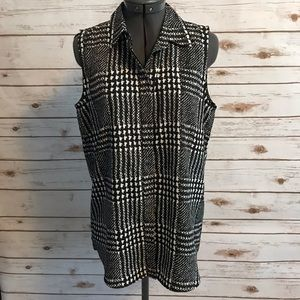 J Crew Factory houndstooth top size 6 NWT